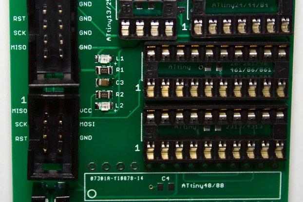 ATtiny Programmer Adapter PCB v1.4