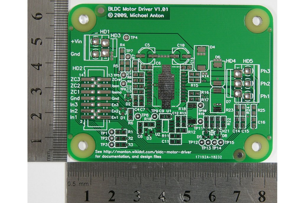 Brushless DC (BLDC) Motor Driver PCB 1