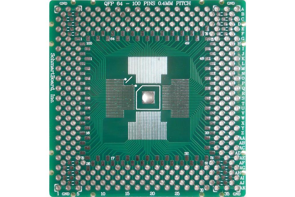 SchmartBoard|ez QFP 64-100 Pins 0.4mm Pitch PCB 1