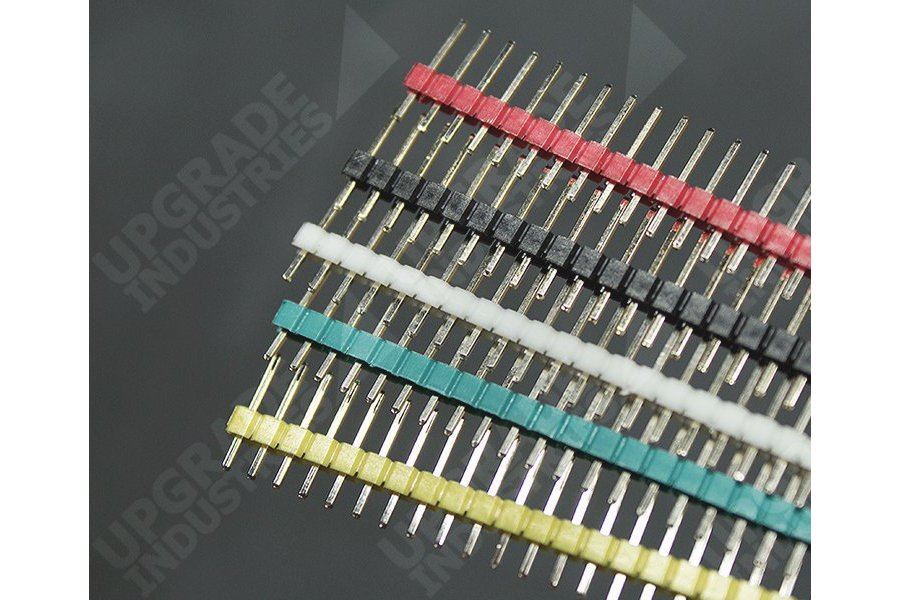 40 Pin Male Header - Red Green White Yellow Black