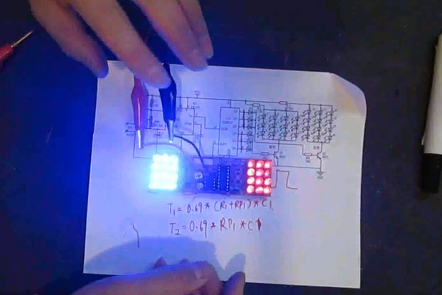 Red Blue Flashing Light DIY Kit(4986)