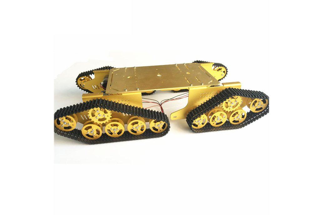 Arduino-compatible four wheels drive tank chassis 4