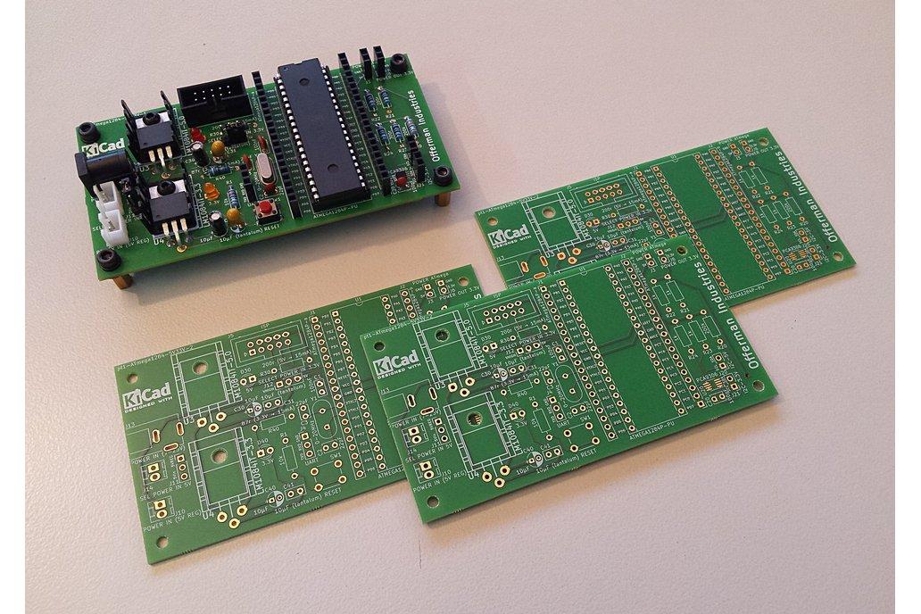 ATmega1284 dev board with 5V & 3.3V I2C and power 5