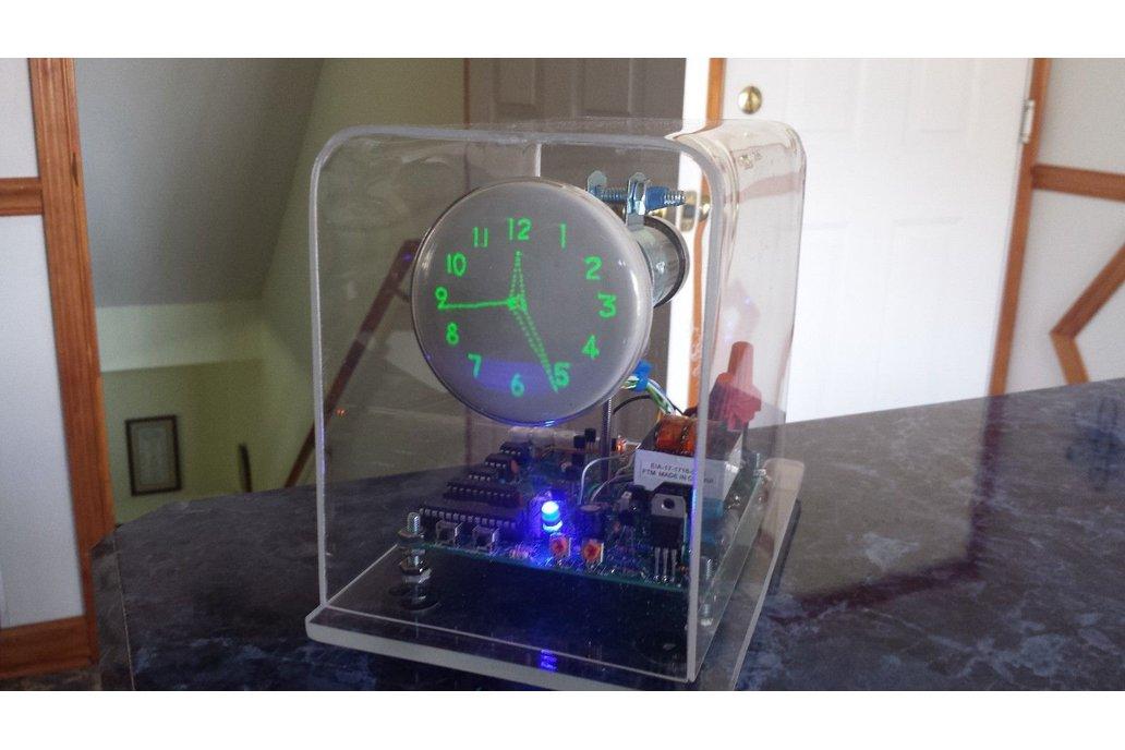 "Mini Oscilloscope Clock DG7-6 Cathode Ray Tube 3"" 8"