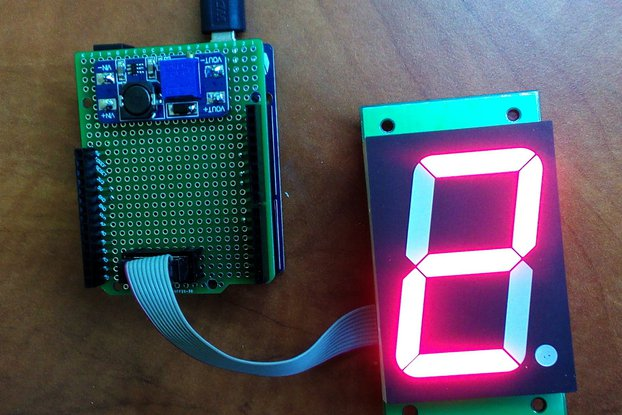 Huge 7-segment display module