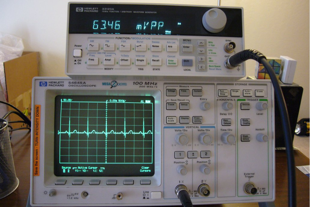 HP 54645A 100Mhz Digital Oscilloscope /w Probes 1