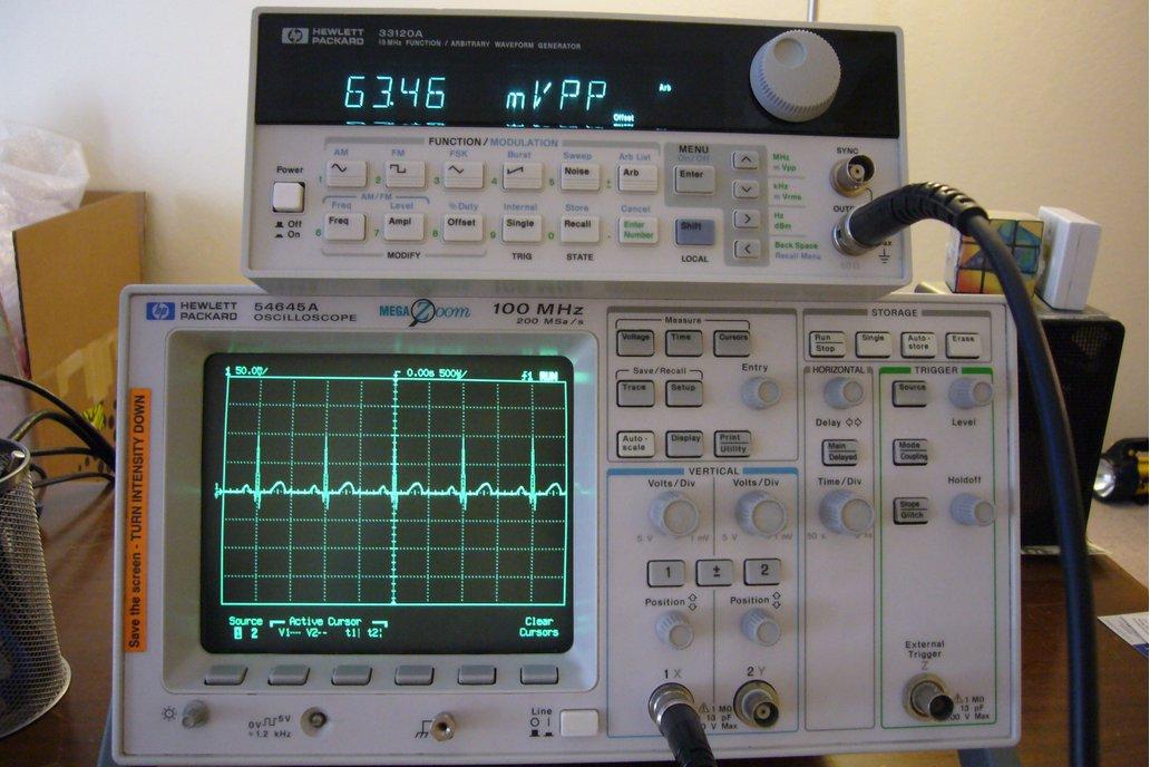 HP 54645A 100Mhz Digital Oscilloscope /w Probes 1