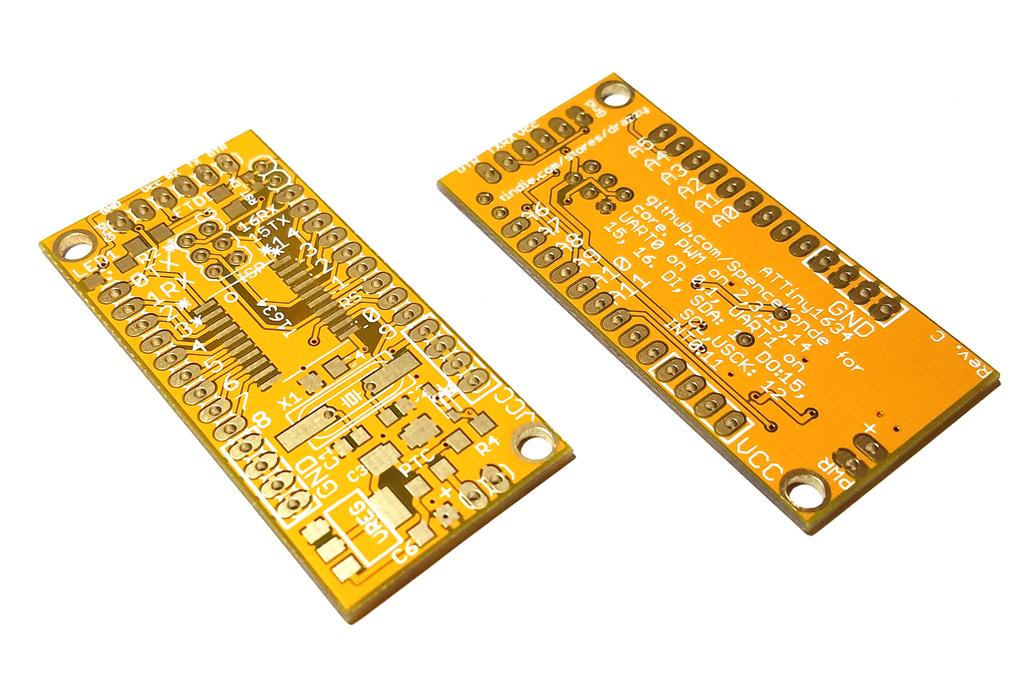 ATTiny1634 breakout w/serial header (bare board) 1