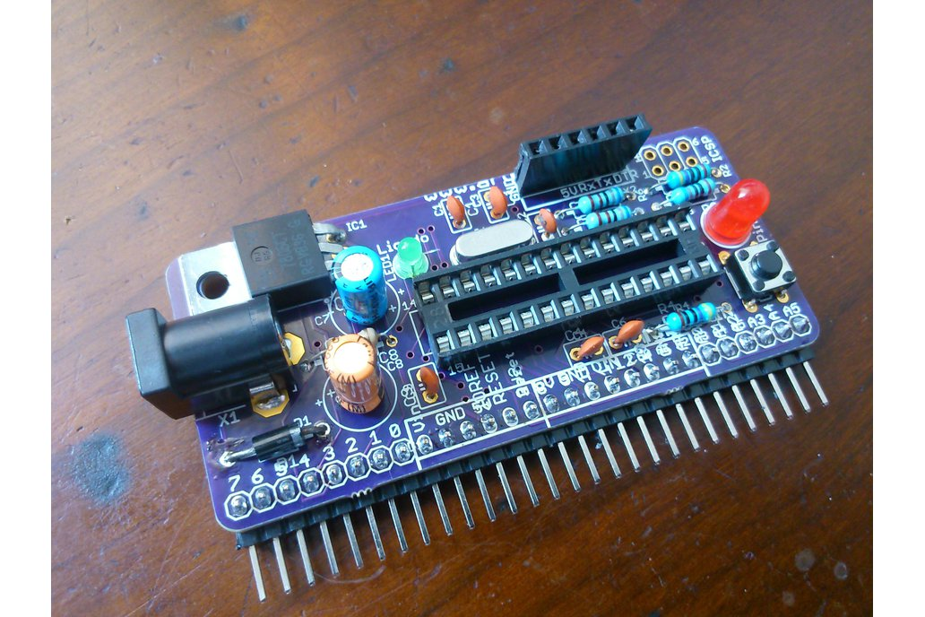 Vertically mountable Arduino - PCB only 1