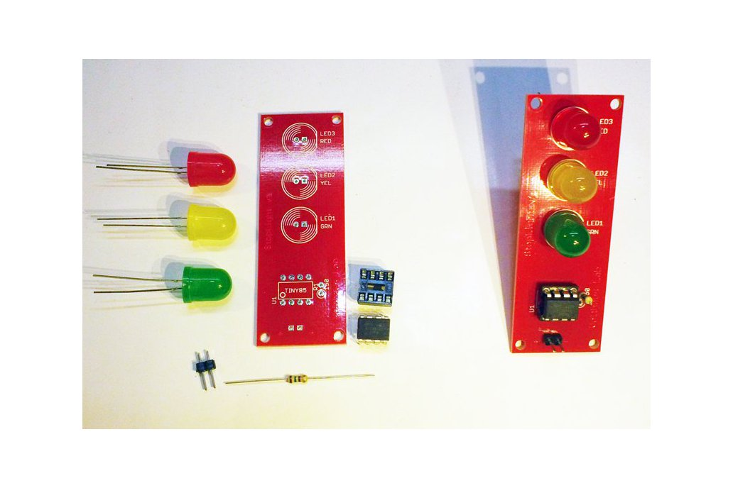 PCB Only: Classic ATtiny85-20PU Stop Light 1