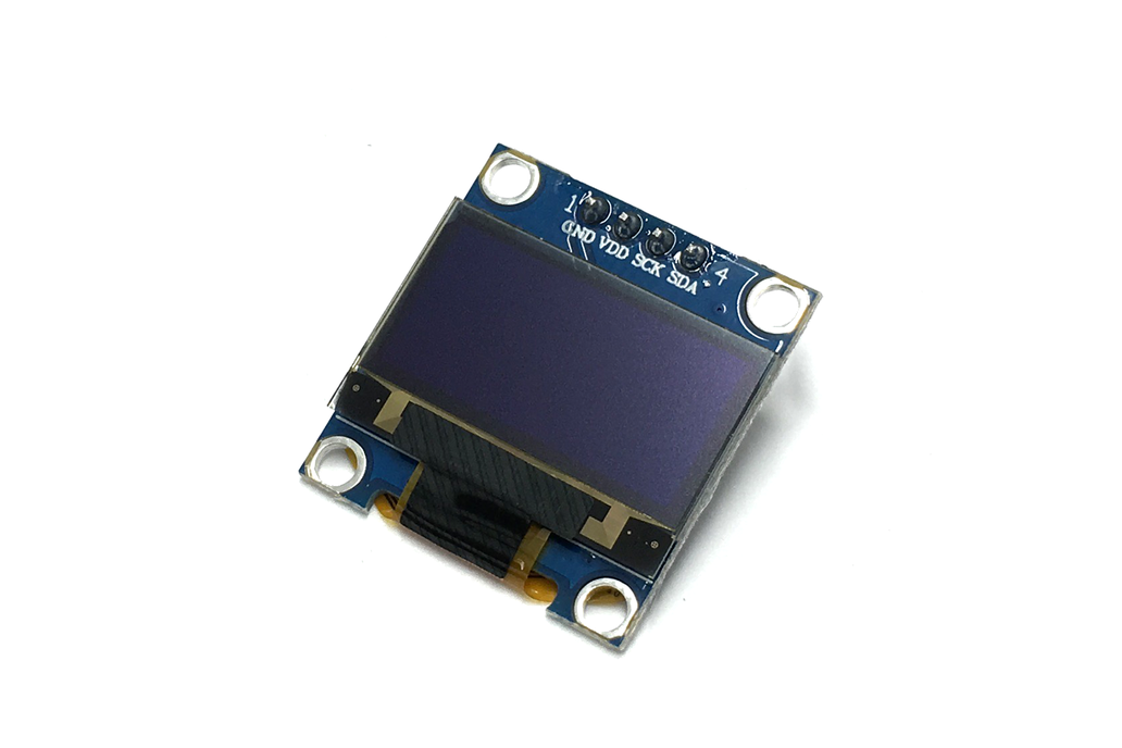 """.96"""" White & Yellow OLED 128 x 64, SSD1306 Driver 1"""