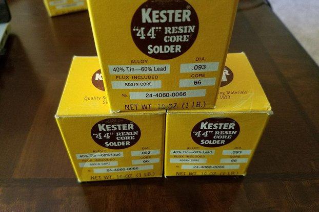 """Kester Solder - .093"""" Dia - 60/40 - 25 ft"""
