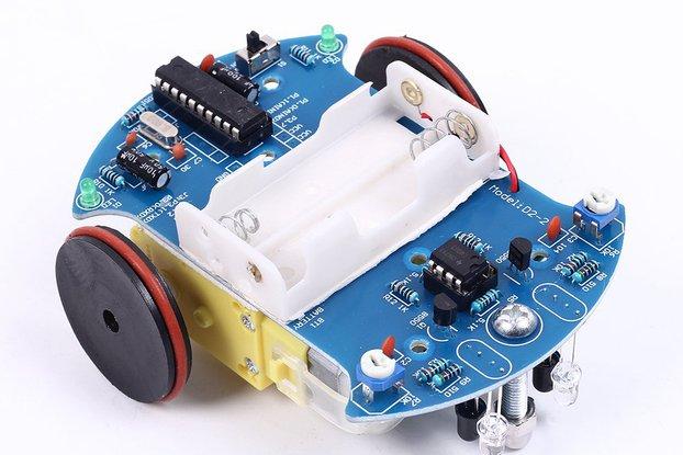 DIY D2-2 Track Line Smart Car AT89C2051 (10170)