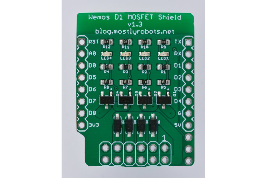 4 Channel MOSFET Shield for Wemos D1 Mini ESP8266 1