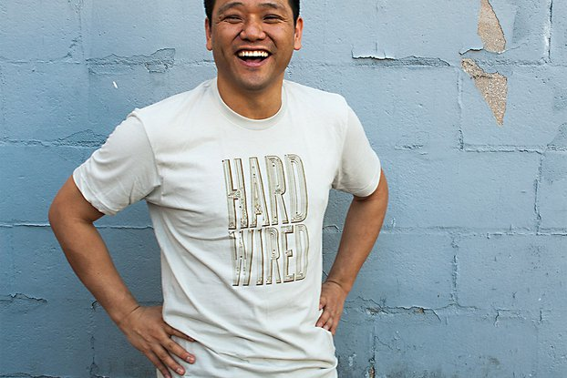HARD WIRED - Typographic Circuitry Graphic T-shirt