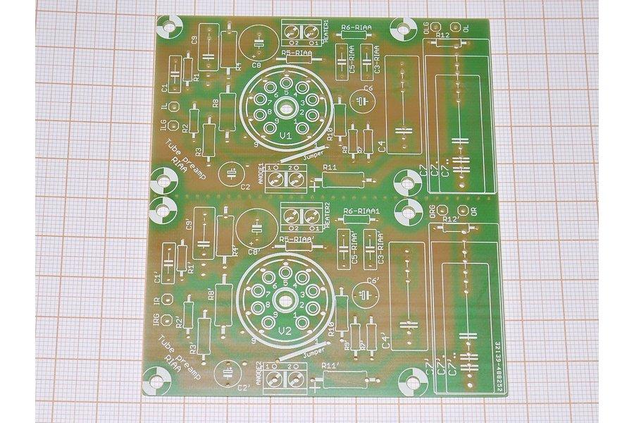 PCB Tube Phono Preamplifier RIAA ECC88, 81, 82, 83