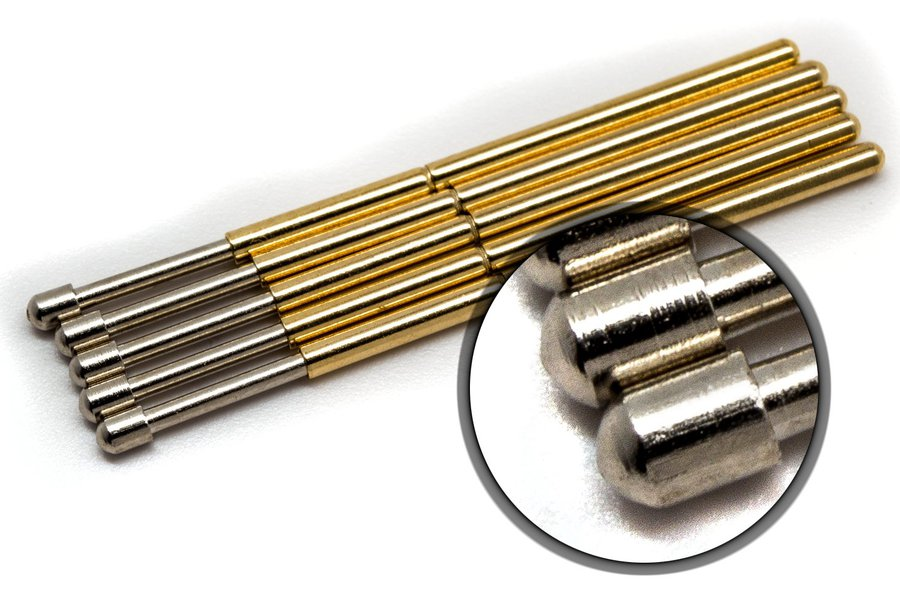 10x Round Tip Spring Loaded Pogo Test Pins