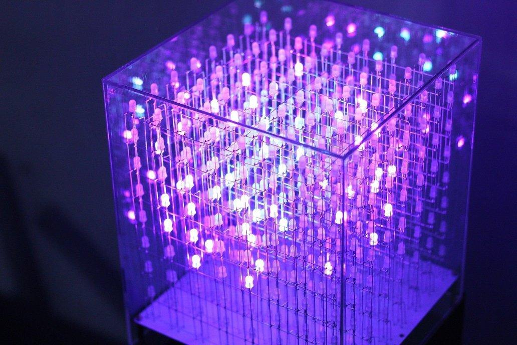 AuraCube 8x8x8 3D RGB LED Cube DIY Kit 5