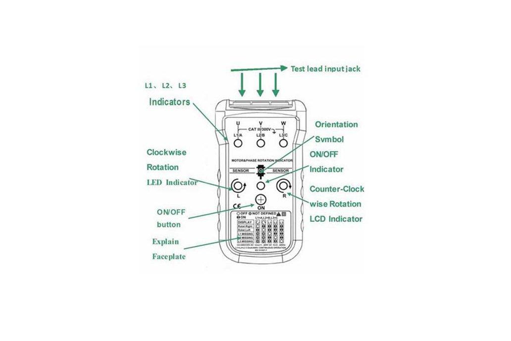 MASTECH Non-contact Motor Rotation Indicator Meter 8