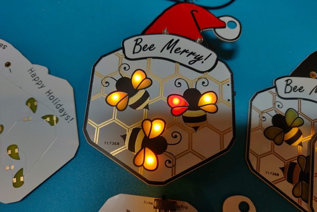Bee Merry Christmas Ornament