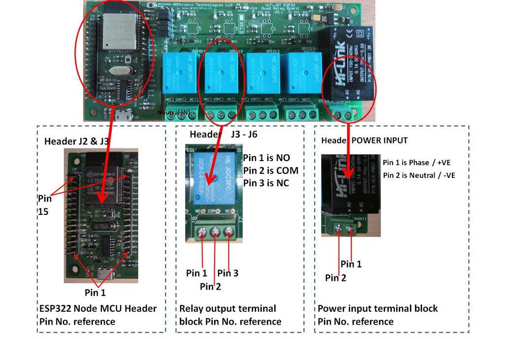 Wifi/BT Esp32 Quad Relay Board ,Amazon Alexa