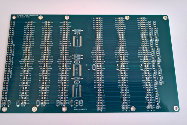 Z20X Expander with RC2014 bus (PCB)