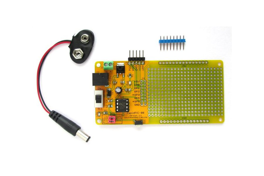 PIC12F series microcontrollers project board