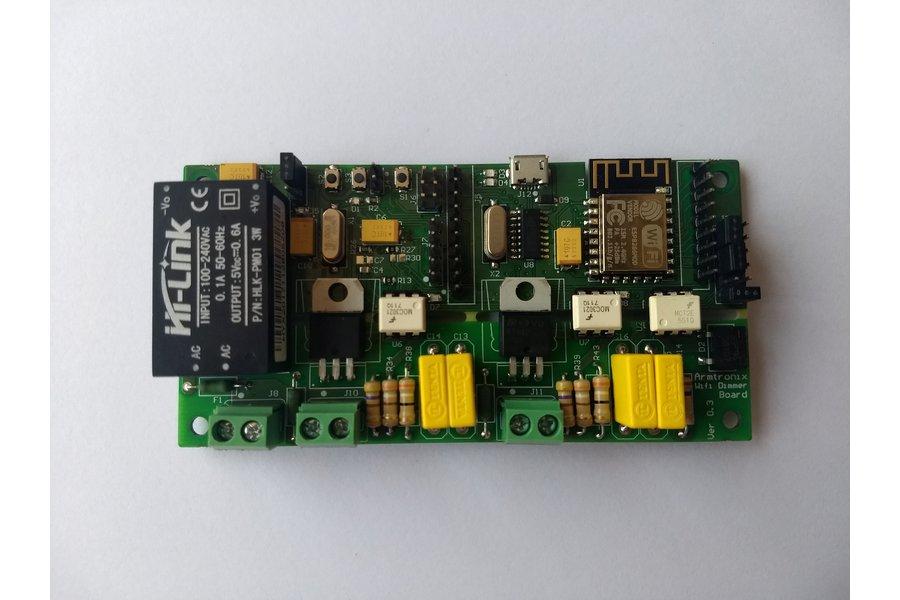 Wifi ESP8266 2-Dimmer with Ardiuno Uno (Atmega328)