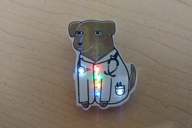 Dogtor pin badge