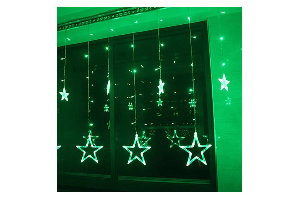 Christmas Lights Fairy Star LED Curtain String 6