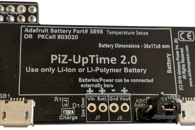 Pi-Zero-UpTime 2.0: UPS for Pi in Pi-Zero size.