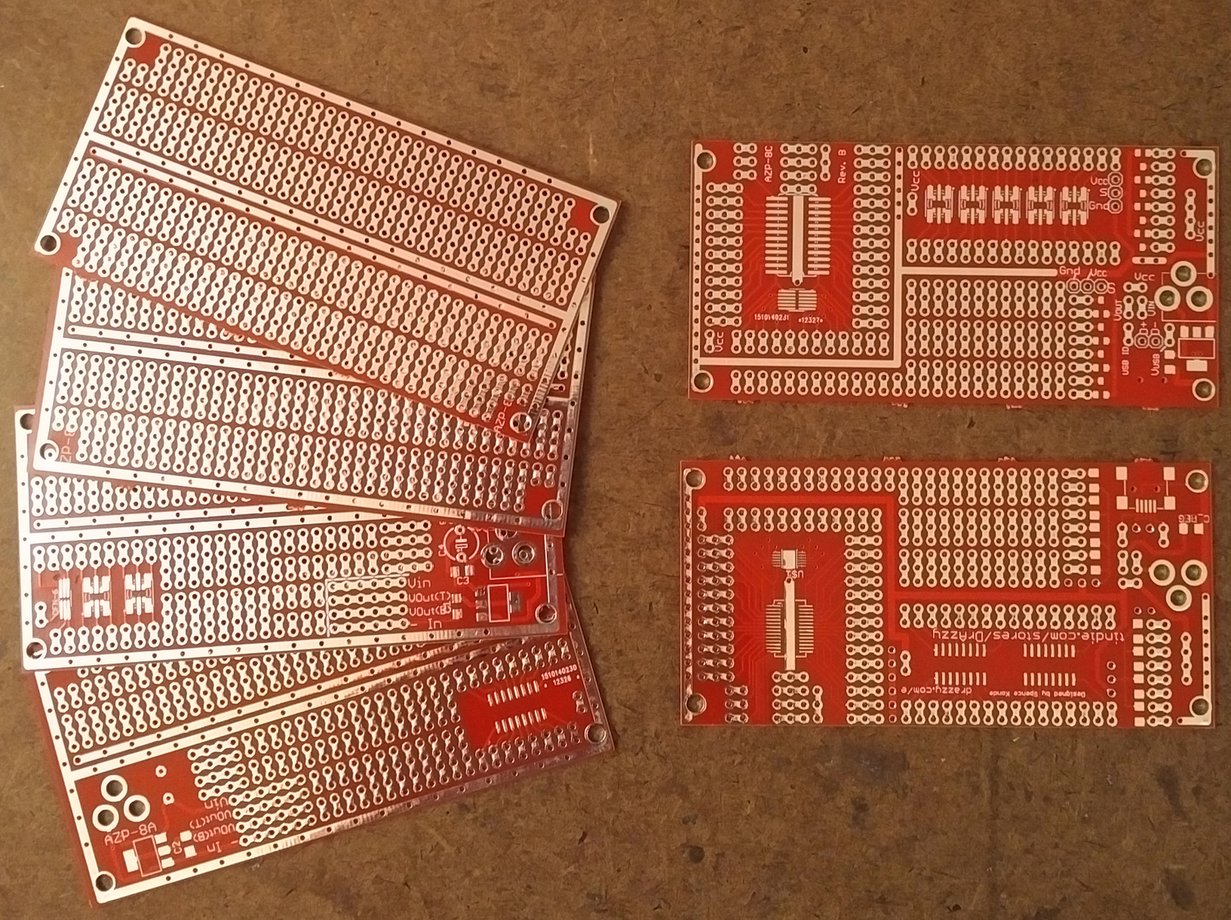 2 X 4 Prototyping Project Boards From Azzys Electronics On Tindie Speaker Pcb Circuit Board Hasl Electronic Printed Maker