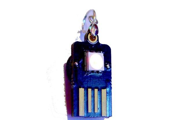 USB supercapacitor Led Earrings