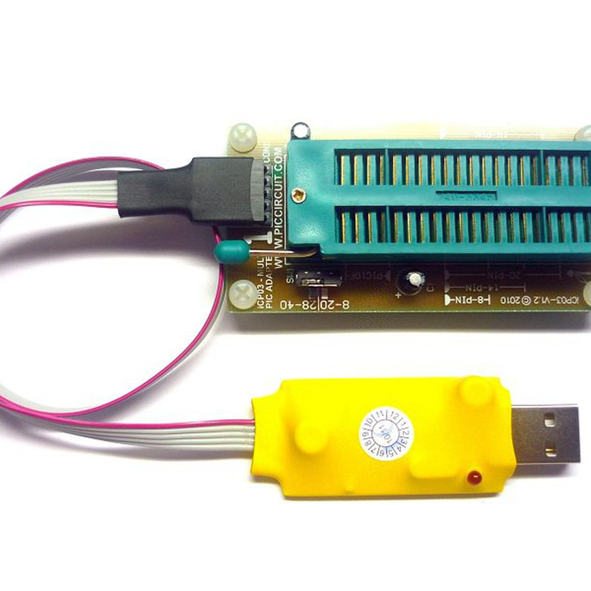 iCA01 - USB Microchip PIC Programmer Set from PICcircuit on