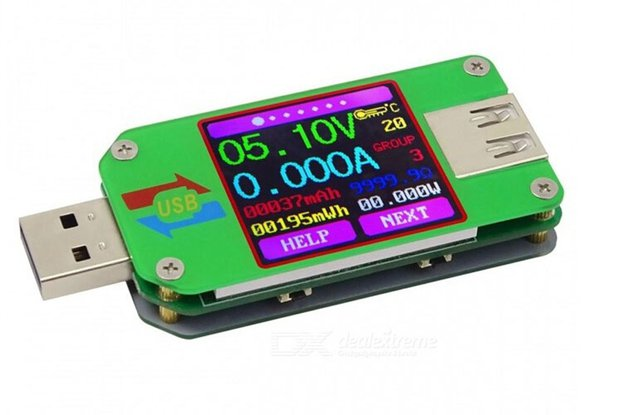 UM24 LCD USB Color Display Tester Ammeter(13232)