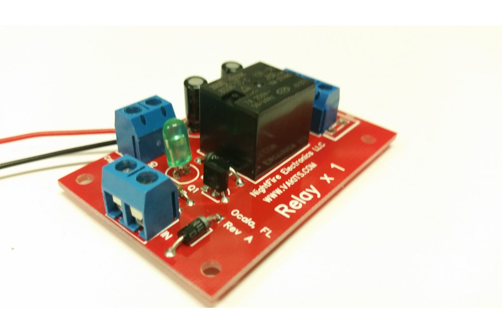 Single Relay Module Kit - Selectable Coil Voltage 1
