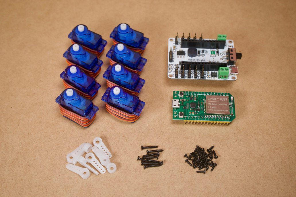 DIY Parts for Q1 lite simple quadruped robot 2