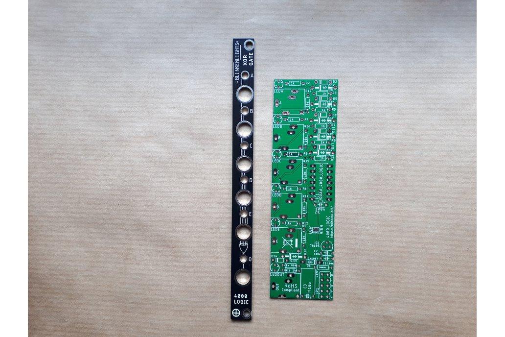 4000 Logic Gate PCB + Panel for Eurorack - 2HP 1