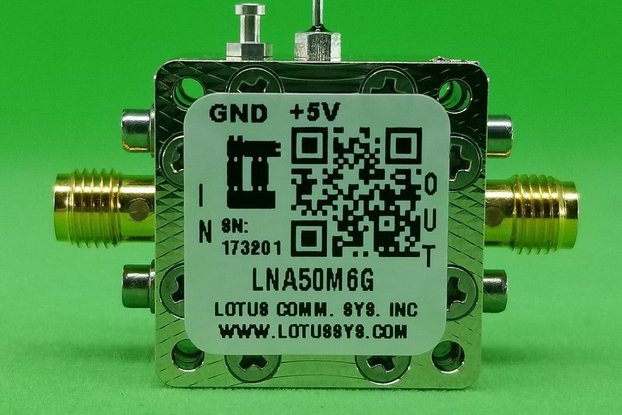 Amplifier LNA 0.65dB NF 50MHz to 6GHz