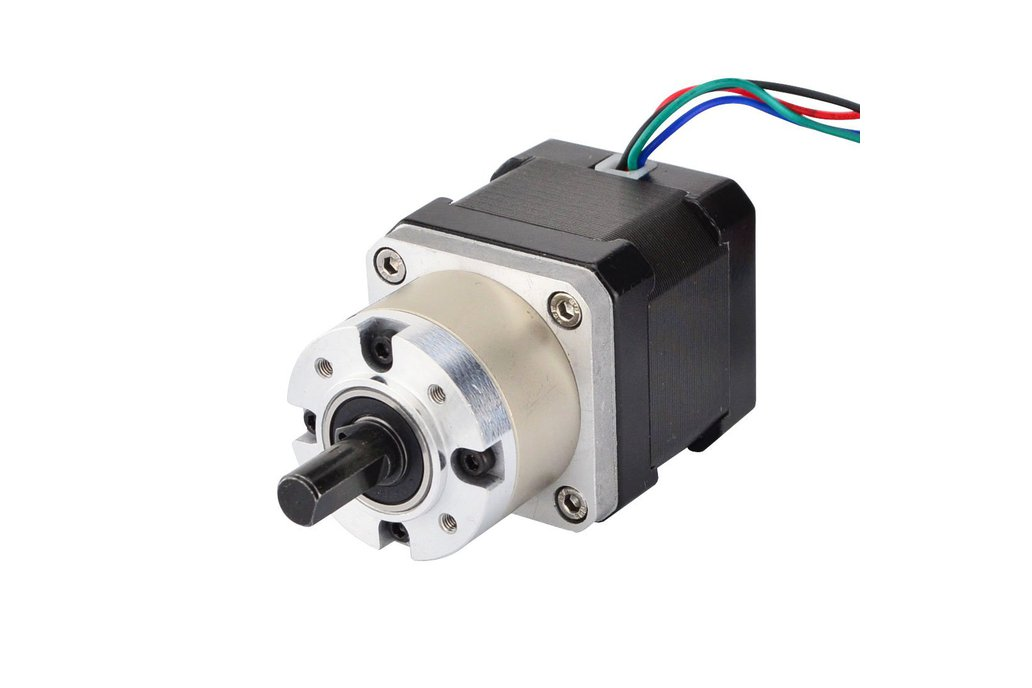 Nema 17 Stepper Motor 38mm Length w/ 5:1 Gearbox 1
