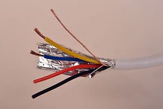 18/4 wire - 25 ft - stranded, shielded