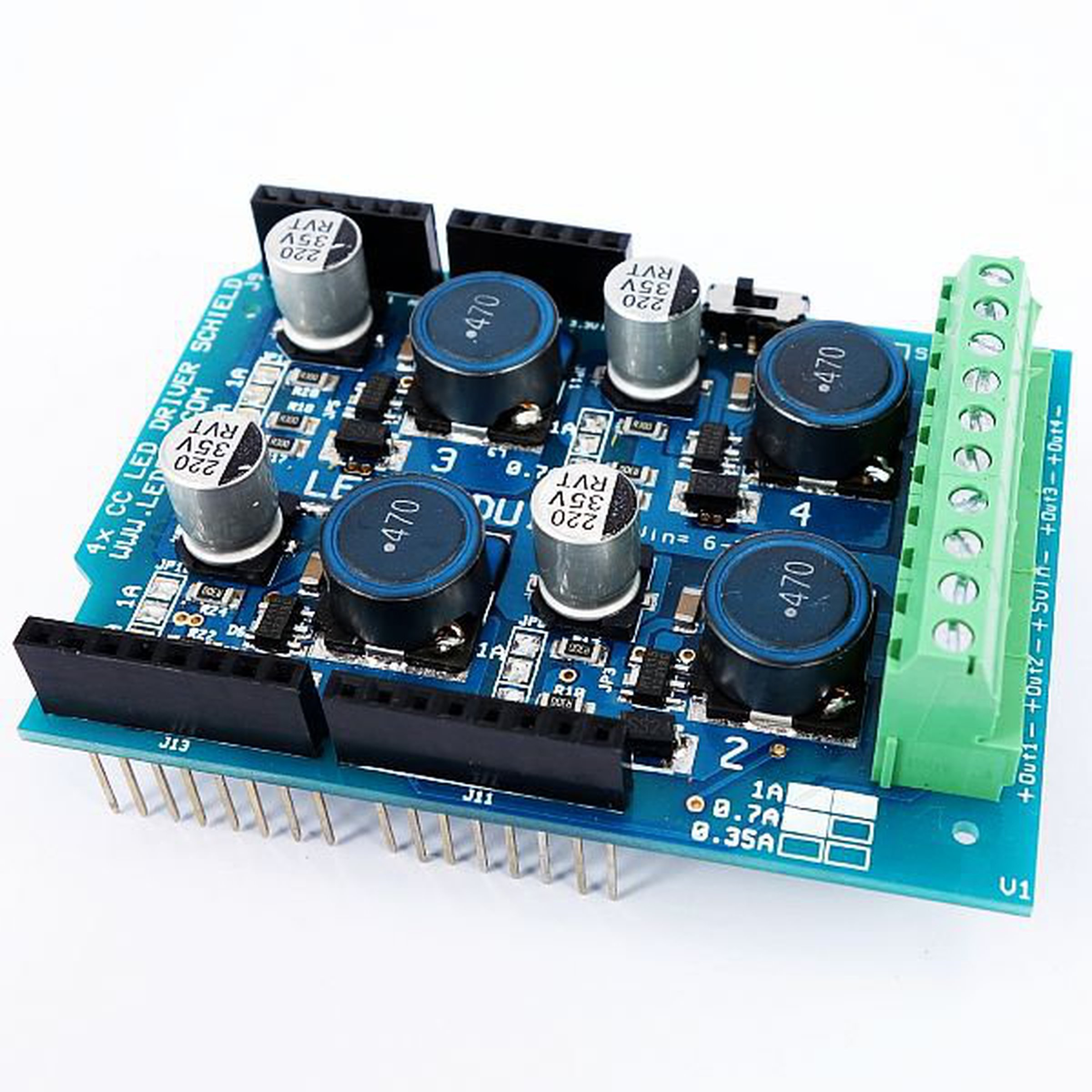 Channel pwm high power led shield for arduino from