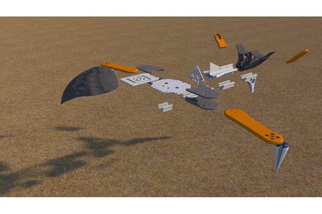 525mm V-Tail Multicopter Robotics Platform Drone 2