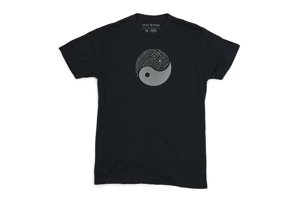 YIN YANG TECH - Mens Fitted Graphic T-shirt 2