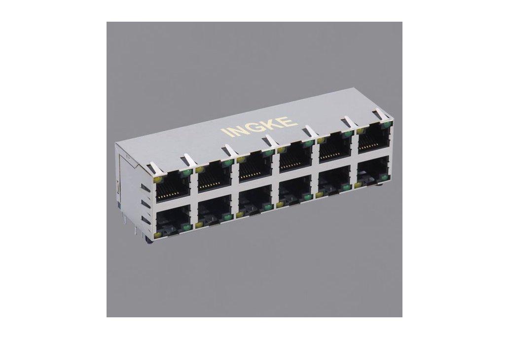 Ingke 2x6 ports RJ45 Modular Connectors 1