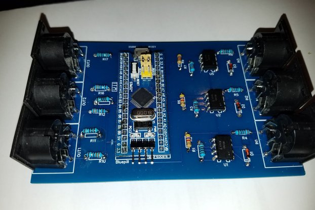 USB MIDI interface 3 I/O with routing features