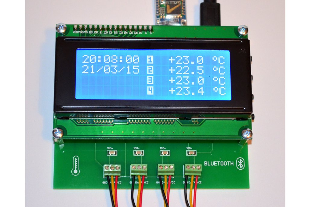4CH Temperature Data Logger Bluetooth 1
