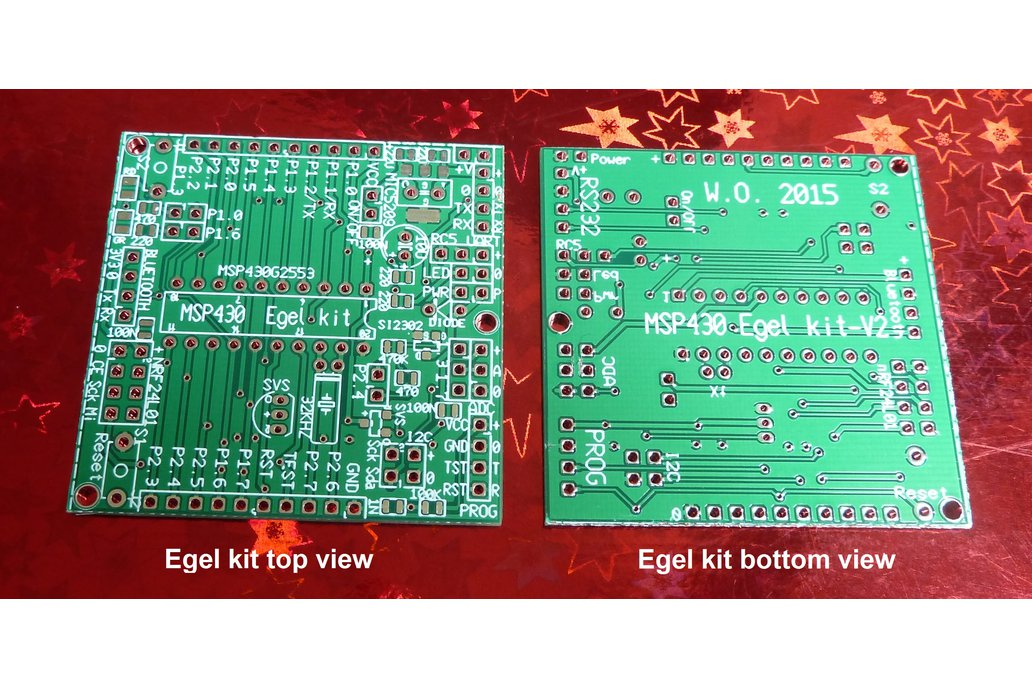 Egel kit board set for MSP430G2553 (no parts!)