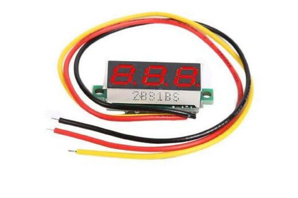 "0.28"" DC 0-100V 3 Wires Mini Digital LED Display 1"