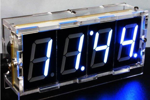 DIY 4 Digit LED Electronic Clock Kit Large Screen
